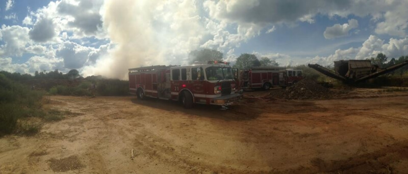 STATION 1 ASSISTED LONG CREEK WITH A LARGE MULCH FIRE