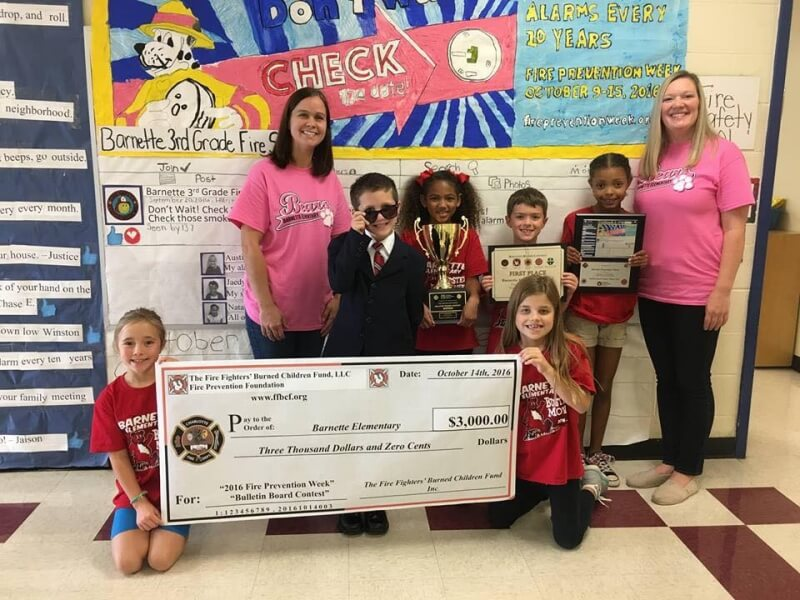 BARBETTE WINS FIRE PREVENTION CONTEST