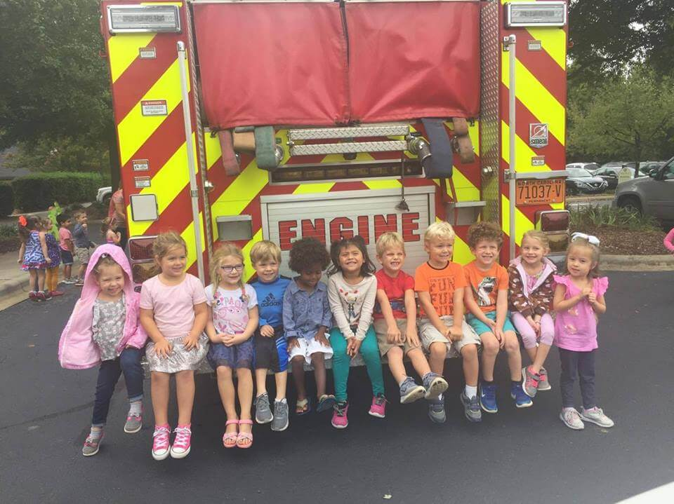 ENGINE 1 VISITS ST MARK