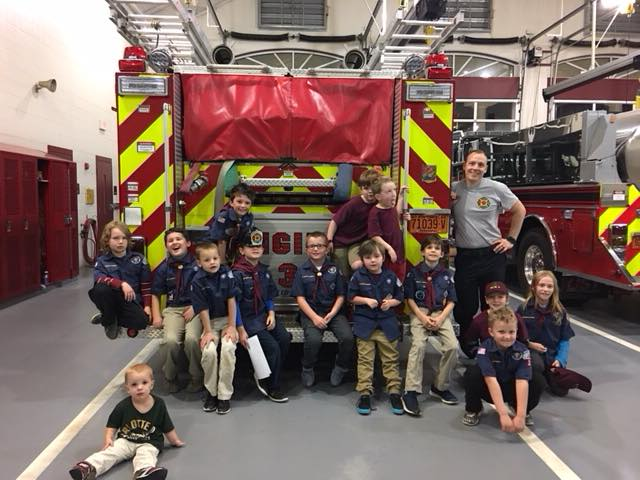 CUB SCOUT VISIT TO STATION 3