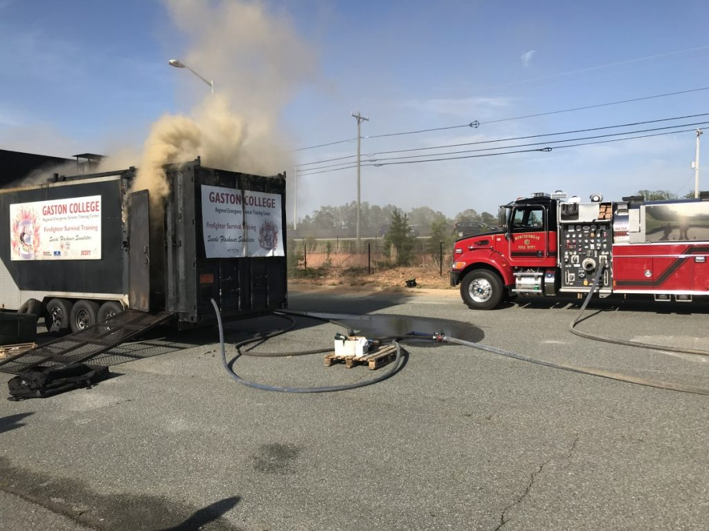 HUNTERSVILLE FIREFIGHTERS GO THROUGH FLASH OVER TRAINING