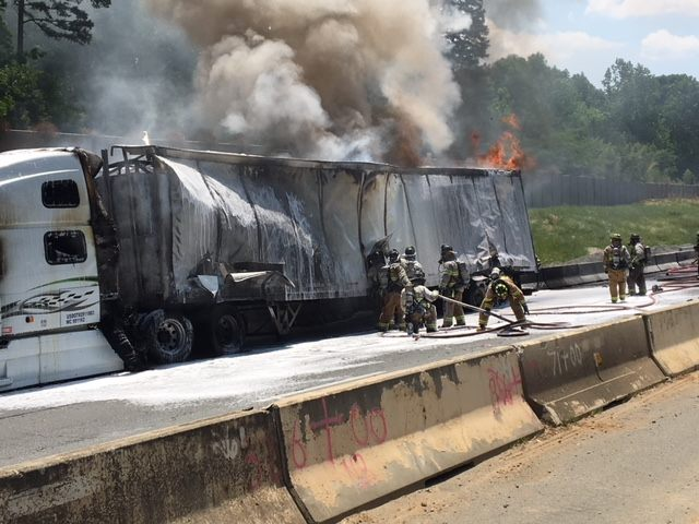 HFD RESPONDS TO I-77 TO ASSIST CHARLOTTE FIRE