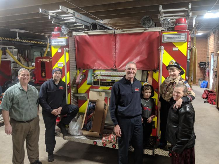 PACK 97 VISITS OUR STATIONS ON CHRISTMAS EVE