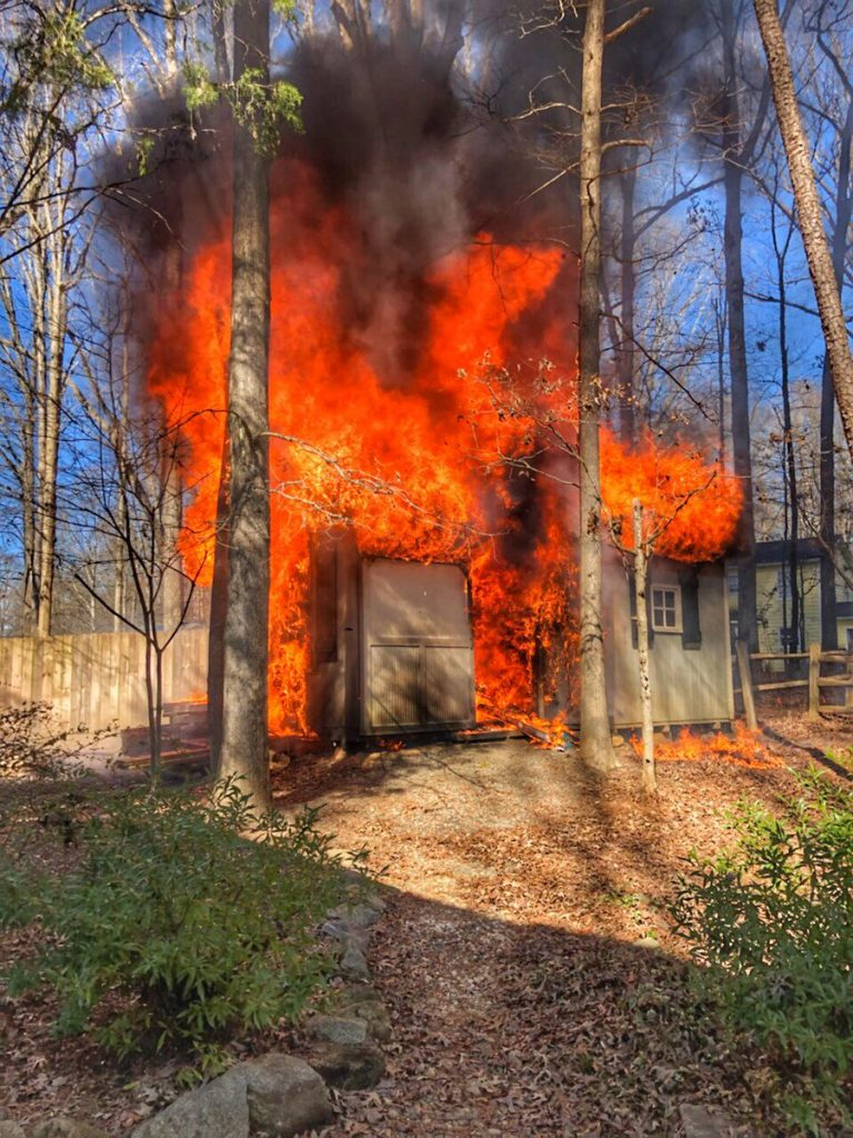 OUTBUILDING FIRE