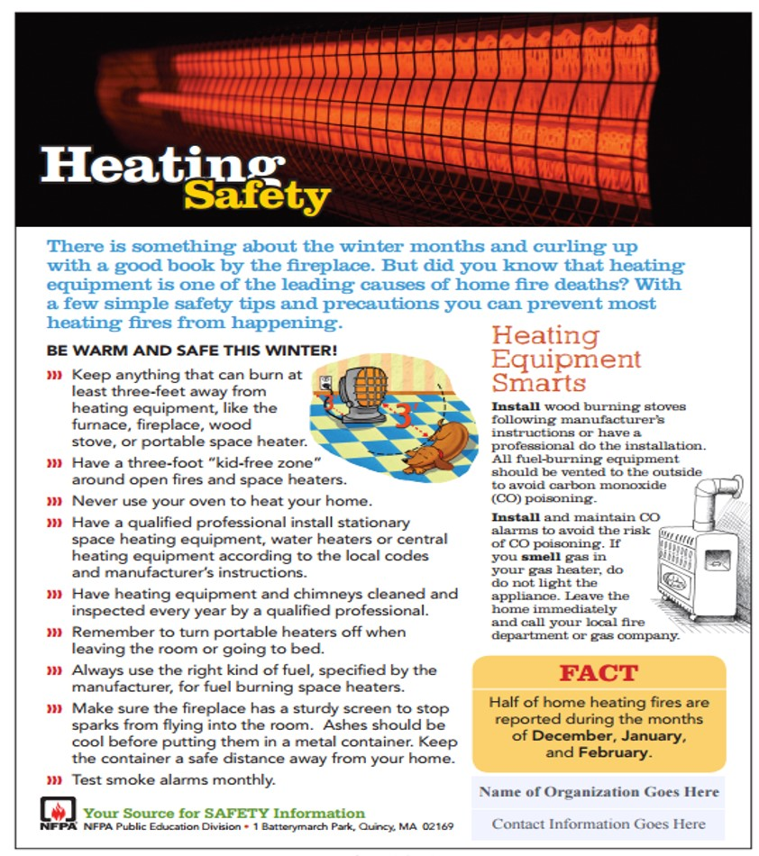 Your Home Heating Safety Tips: HOME HEATING SAFETY