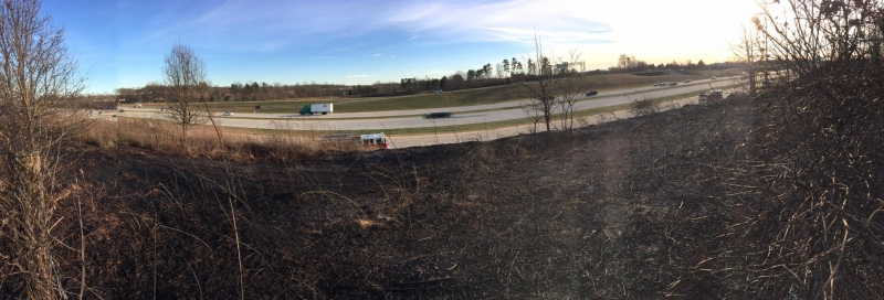 OUTSIDE FIRE ALONG I485