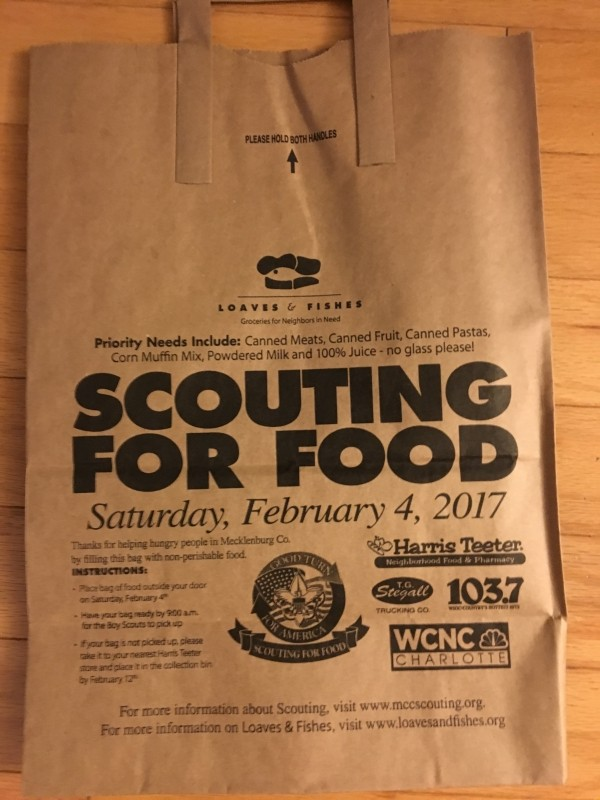 SCOUTING FOR FOOD 2017