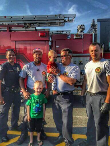 ENGINE 1 HELPS A FAMILY AT WALMART