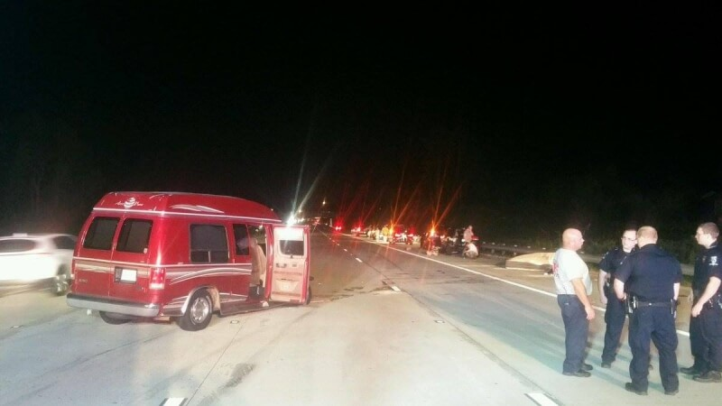 NINE CAR ACCIDENT ON I-485