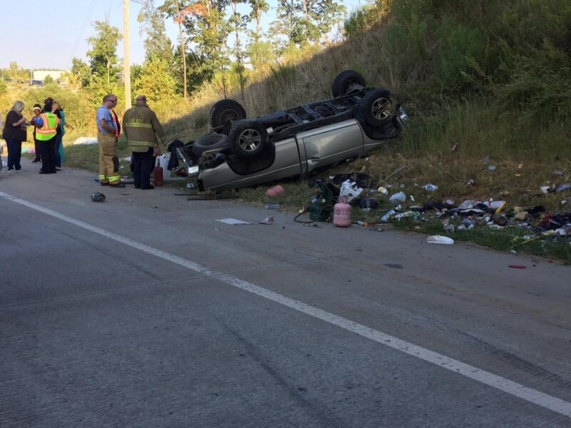 MVA OVERTURNED ON I485