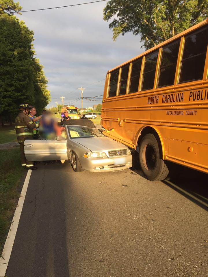 MVA INVOLVING SCHOOL BUS