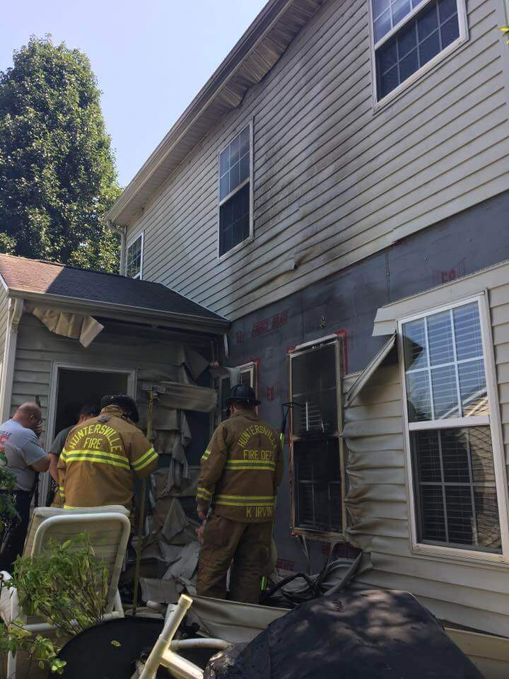 HOUSE FIRE IN TANNERS CREEK