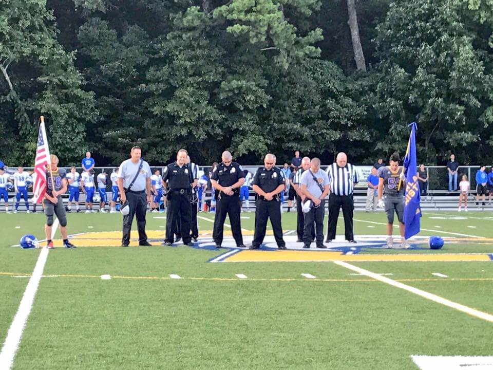 FIRST RESPONDERS HONORED AT GAME