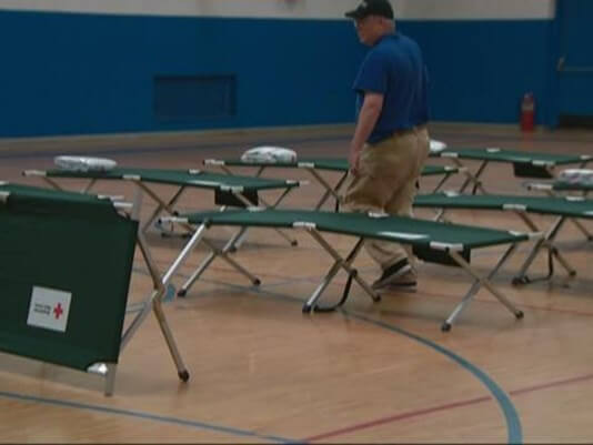 EVACUEE SHELTER OPENED IN HUNTERSVILLE