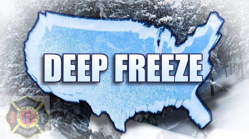 COLD SNAP COULD EQUAL FROZEN WATER LINES