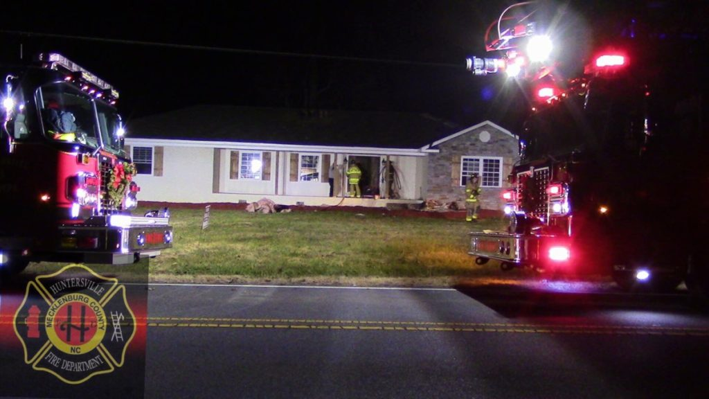 HUNTERSVILLE FIRE SAVES HOME, EXEMPLIFIES SERVICE