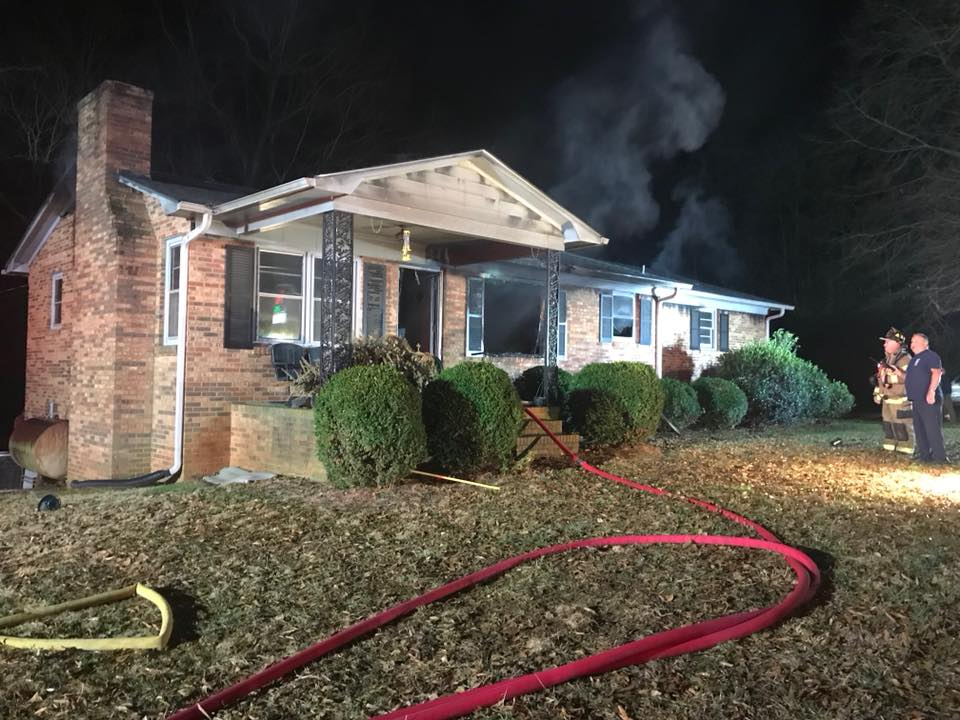 ENGINE 2 RUNS A FIRE IN LINCOLN COUNTY
