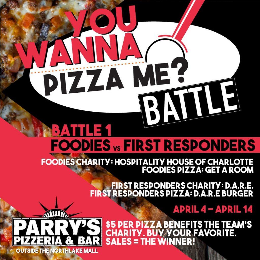 PIZZA BATTLE FOR CHARITY – D.A.R.E. BURGER PIZZA!
