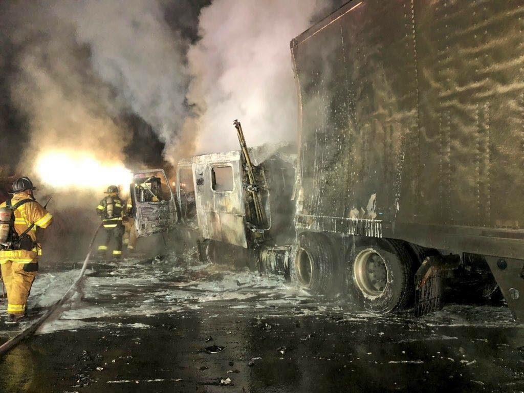 MVA WITH FIRE ON I-77