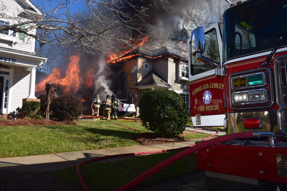 WORKING HOUSE FIRE IN CORNELIUS