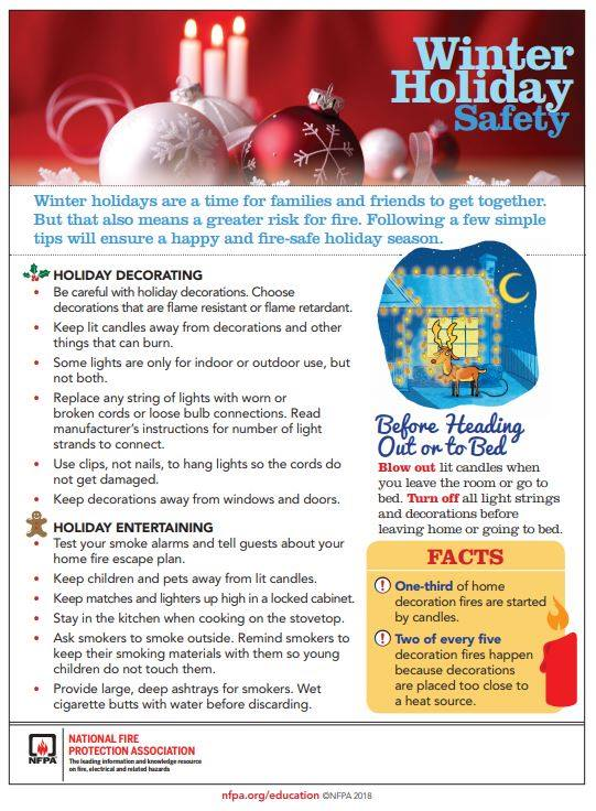 FRIDAY FIRE SAFETY TIP – HOLIDAY SAFETY