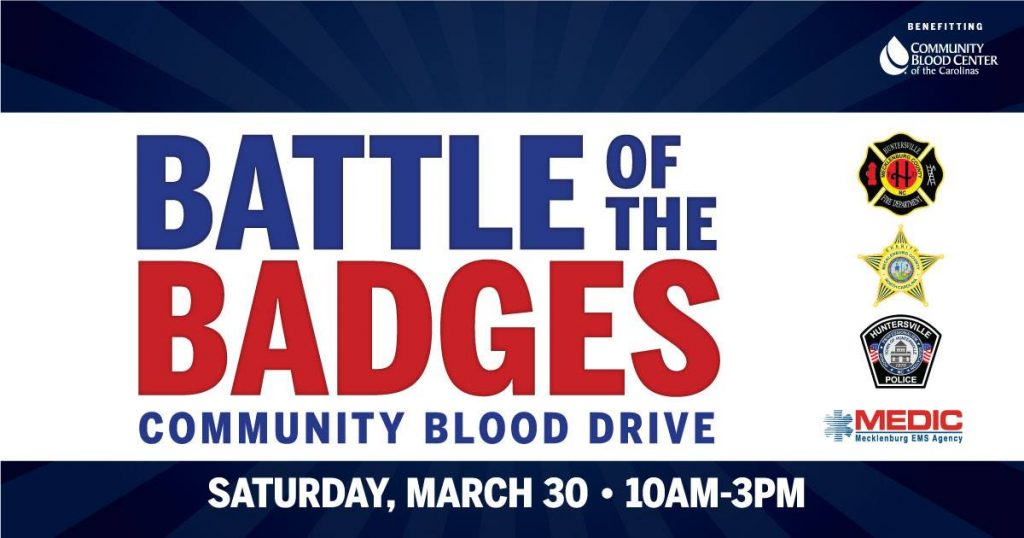 ANNUAL BATTLE OF THE BADGES BLOOD DRIVE
