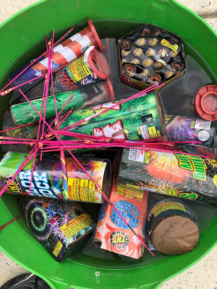 PROPER DISPOSAL OF FIREWORKS